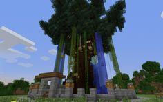 Huge tree Minecraft Pe, How To Play Minecraft, Minecraft Stuff, Minecraft Ideas, Minecraft Buildings, Minecraft Inventions, Minecraft Decorations, Minecraft Creations, Survival Mode