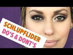 Schlupflider richtig schminken - YouTube