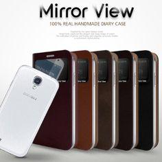 Galaxy S6 Phone Diary Case MIRROR VIEW Samsung  Purse Card Holder G920 Korean