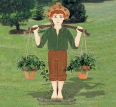 Country Boy Planter Woodworking Plan