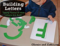 Building Letters {Taking Notice of How Letters Are Built}