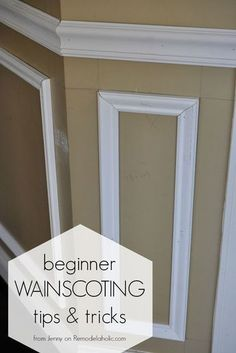 Installing trim wainscoting, such as a chair rail or shadow…