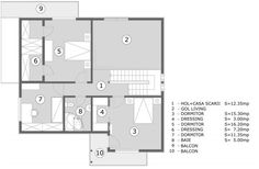 These three bedroom house plans come in various designs, but all meeting the needs of families of members. Tree Bedroom, Three Bedroom House Plan, Interior Staircase, Design Case, Modern House Design, Home Projects, Floor Plans, How To Plan, Home Decor