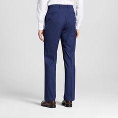 Men's Slim Fit Tonal Plaid Suit Pants Blue 30X32 - City of London