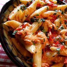 Three Cheese and Tomato Pasta @ allrecipes.co.uk