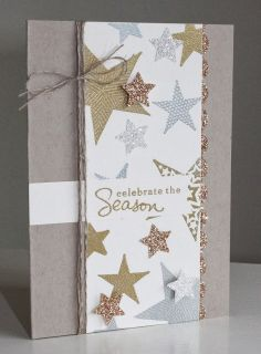 Little Bay Stampin': Mixed Metallic Christmas Card