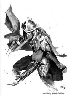 Hands down the best Shredder drawing I've ever seen! TMNT - Shredder by Gabrielle Dell'Otto *