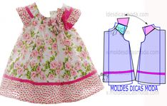 molde vestido infantil floral