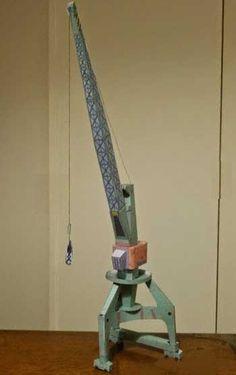 Gantry Crane Free Paper Model Download - http://www.papercraftsquare.com/gantry-crane-free-paper-model-download.html#GantryCrane