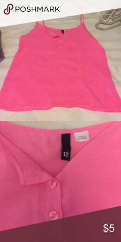 Hot pink basic tank top H&m in perfect condition. H&M Tops Camisoles