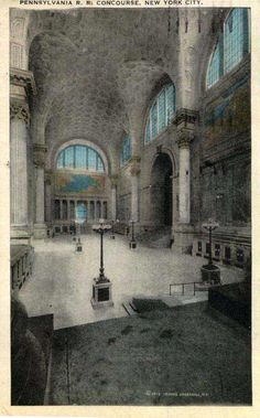 Old Penn Station Concourse.