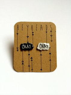 Hey, I found this really awesome Etsy listing at https://www.etsy.com/listing/181261439/okay-okay-earrings