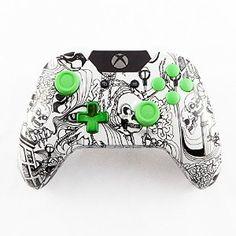 White Kooky Skulls Xbox One Custom Controller Minecraftwiz Gaming