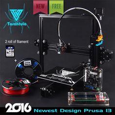3D Printer Kits TEVO Tarantula I3 Aluminium Extrusion 3D Printer kit  3d printing 2 Rolls Filament 8GB SD card LCD As Gift
