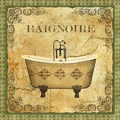 I uploaded new artwork to fineartamerica.com! - 'Vintage Baignoire' - http://fineartamerica.com/featured/vintage-baignoire-jean-plout.html via @fineartamerica