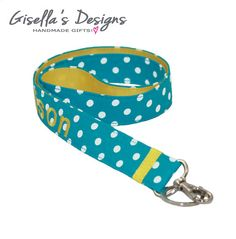 Modern Turquoise and yellow Personalized Badge Lanyard ID Holder, Key Chain Lanyard, Neck Strap Lanyard, custom made