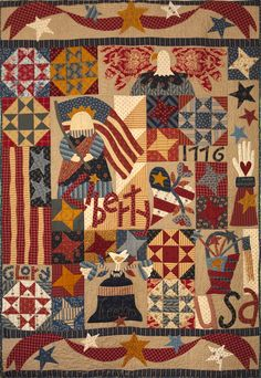 Star Spangled Celebration by Pat Wys and BJ Laird   www.silverthimblequilt.com