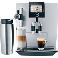 Jura IMPRESSA J9 One Touch Espresso & Cappuccino Maker featuring polyvore, home, kitchen & dining, small appliances, rotary grinder, jura espresso maker, latte frother, espresso cappuccino machine and jura espresso machine