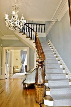 19th century Victorian house. What has my eye is the banister and newel post.