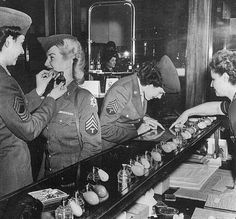 Perfume counter and victory rolls.