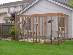 I am going to build a smaller adapted version of this cat enclosure at my dad's house for Angel and Pepper