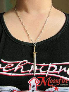 PERCY JACKSON Riptide Sword Pendant Necklace >>> I didn't read the caption but I was immediately able to recognize this as riptide???