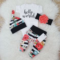 Hello world- coming home outfiy-baby-girl-coming-home-outfit-newborn