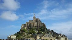 Mont Saint Michel, in the Normandy Coast. The rocky islet is a famous sanctuary, designated a UNESCO World Heritage Site, in 1979