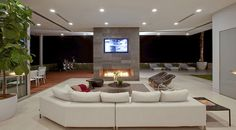 Contemporary and Elegant Family Room Interior Design of Home Design, Best Home Interior Design, Design Ideas, Avicii House, Beverly Hills Houses, Architect House, House On A Hill, Design Moderne, Foyers
