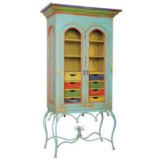 *Multi-Colored Display Cabinet   BelleEscape.com