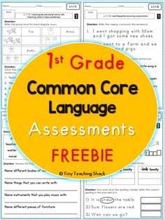 Free 1st grade Common Core Language Assessments