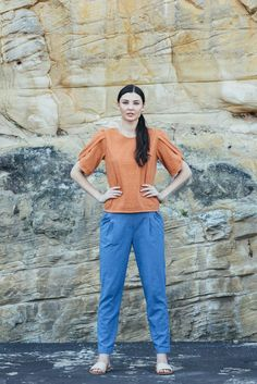 Traveller Pants - Oasis blue | Carlieballard