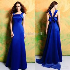 Royal Blue Bridesmaid Dress---- I love this dress... !!!!!!! But without the bow on the back