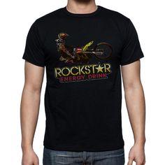 NEW Rockstar Energy Drink Image Black Mens T-Shirt Size S-XXL - T-Shirts, Tank Tops