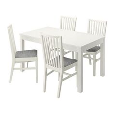 IKEA - BJURSTA / NORRNÄS, Table and 4 chairs