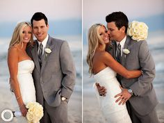 Gray suit on the beach Carillon 30A Wedding Photographer ®   Angie & Larry » Rae Leytham Photography