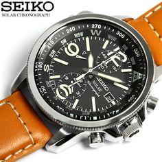 セイコーSEIKO腕時計メンズクロノグラフソーラー腕時計クロノ100m防水SSC08