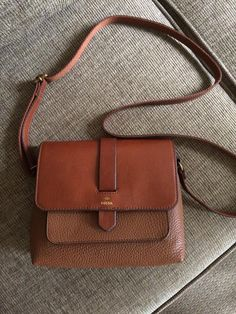 fossil kinley small crossbody brown