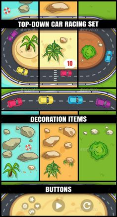 Top Down Car Racing Set  (Game Kits)