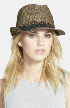 Hinge Mixed Weave Trilby Hat