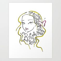 She will be loved Art Print by Mandie Manzano - $22.88