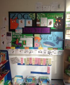 Book Corner Display.  Author Study: Julia Donaldson