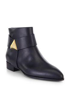 Giuseppe Zanotti - Pyramid Leather Ankle Boots - Saks.com