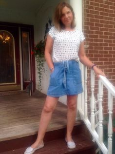 Amy's Creative Pursuits: A Blue & White Comfy Whimsical Outfit