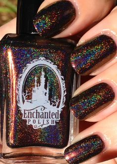 Enchanted Polish - Vampires Suck. Looks like a galaxy on your nails!