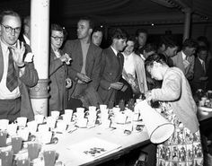 In the coffee was an occasional drink for special occasions and tea the near-universal drink, morning, noon and night. At this social function in the tea is being poured from large jugs into cups set out ready for the rush for refreshment. Cupping Set, 1990s, New Zealand, Special Occasion, Cups, Rooms, Tea, Traditional, Drink