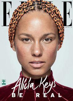 Magazine Cover: Alicia Keys for several Covers of ELLE Brasil September 2017.