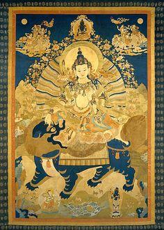 Manjushri (Bodhisattva & Buddhist Deity) - Vadisimha - The Metropolitan Museum of Art - China Tibetan Art, Tibetan Buddhism, Buddhist Art, Thangka Painting, Esoteric Art, Spiritus, Mystique, Sacred Art, Religious Art