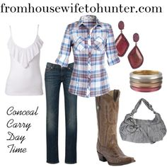 Conceal carry Fashion. A little bit country. A collage from Polyvore