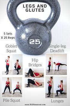 Powerful Leg and Glutes 25lb Kettlebell Workout Circuit | Fitness Workouts, Kettlebell Workout Routines, Fitness Hacks, At Home Workouts, Workout Circuit, Fitness Motivation, Health Fitness, Kettlebell Cardio, Kettlebell Challenge